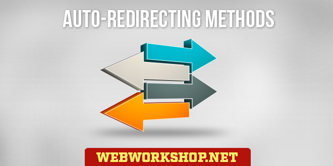 Auto redirecting methods. Html redirect code