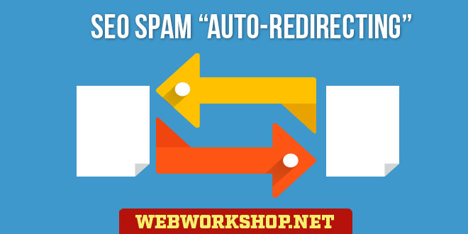 "Search Engine Optimization Spam ""Auto-Redirecting"""