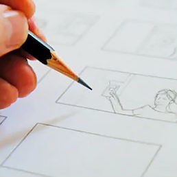 Storyboard, graphics selection, illustrations